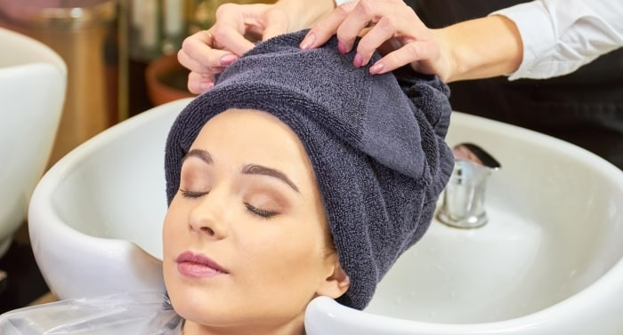 Spa Woman Towel Head Hair